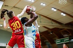 Shante Marie Evans of Slovenia during friendly basketball match between Women National Teams of Slovenia and Montenegro, on May 21, 2021 in Arena Tri Lilije, Lasko, Slovenia. Photo by Vid Ponikvar / Sportida