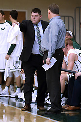 07 January 2017: Andy Etheridge and Ron Rose  during an NCAA men's division 3 CCIW basketball game between the Wheaton Thunder and the Illinois Wesleyan Titans in Shirk Center, Bloomington IL