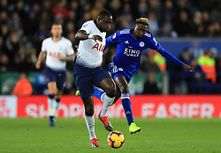 Tottenham Hotspur's Moussa Sissoko (left) and Leicester City's Wilfred Ndidi battle for the ball
