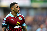 Andre Gray of Burnley looks on. Premier League match, Burnley v Tottenham Hotspur at Turf Moor in Burnley , Lancs on Saturday 1st April 2017.<br /> pic by Chris Stading, Andrew Orchard sports photography.