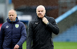 Burnley manager Sean Dyche during the Premier League match at Turf Moor, Burnley.