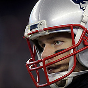FOXBOROUGH, MASSACHUSETTS - JANUARY 14:  Quarterback Tom Brady #12 of the New England Patriots during the Houston Texans Vs New England Patriots Divisional round game during the NFL play-offs on January 14th, 2017 at Gillette Stadium, Foxborough, Massachusetts. (Photo by Tim Clayton/Corbis via Getty Images)