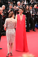 Aurelie Filippetti and Audrey Dana at the red carpet for the gala screening of Jimmy P. Psychotherapy of a Plains Indian film at the Cannes Film Festival 18th May 2013