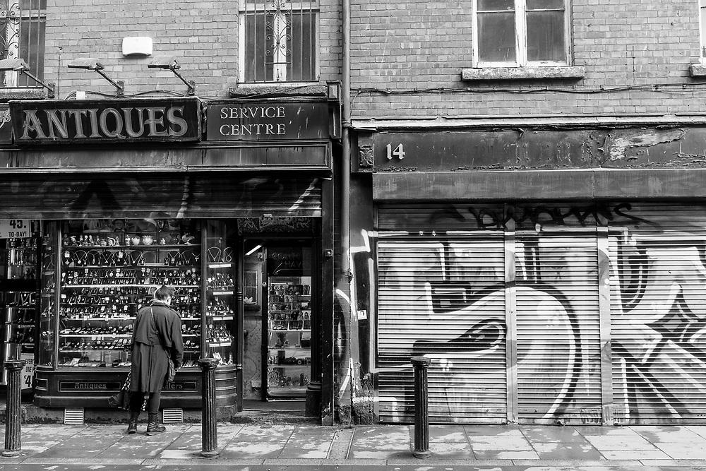 Street scene in Dublin, Ireland