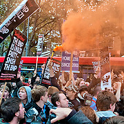Protests at BBC against BNP