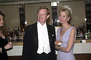 Earl and Countess of Derby. the Royal Caledonian Ball. 2001. Grosvenor house. London. 3 May 2001. © Copyright Photograph by Dafydd Jones 66 Stockwell Park Rd. London SW9 0DA Tel 020 7733 0108 www.dafjones.com