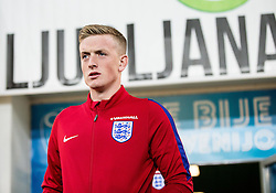 Jordan Pickford during pitch check of Team England 1 day before football match between National teams of Slovenia and England in Round #3 of FIFA World Cup Russia 2018 qualifications in Group F, on October 10, 2016 in SRC Stozice, Ljubljana, Slovenia. Photo by Vid Ponikvar / Sportida