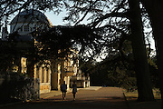 London, England. 14 September 2016.<br />  Late September afternoon sun casts long shadows in Chiswick Park and over Chiswick House. <br /> ©Peter Hogan/Exclusivepix Media