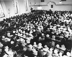 District Six - Hundreds of people attend the final service.