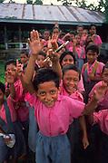 Western Samaon school children (editorial use only-no model release)<br />
