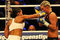 Boksing<br /> Foto: imago/Digitalsport<br /> NORWAY ONLY<br /> <br /> 30.10.2010<br /> <br /> Rostock<br /> Internationale Boxgala - WBC/WBA/WBO - Weltmeisterschaft im Weltergewicht<br /> <br /> Mikaela Lauren (SWE) v Cecilia Brækhus (NOR) <br /> Brækhus vant