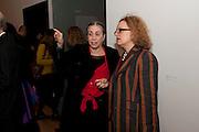 SUSAN HILLER; CAROLYN CHRISLOV-BAKARGIEV, Susan Hiller opening, Tate Britain. 31 January 2010. -DO NOT ARCHIVE-© Copyright Photograph by Dafydd Jones. 248 Clapham Rd. London SW9 0PZ. Tel 0207 820 0771. www.dafjones.com.