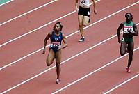 Friidrett, 23. august 2003, VM Paris,( World Championschip in Athletics), Gail Devers, USA (1121) og Makaridja Sanganoko
