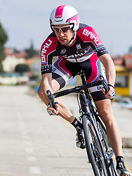 Matej Mugerli of BAKU Cycling during prologue (2km) of 13th Istrian Spring Trophy cycling race on March 10, 2016 in Umag, Croatia. Photo by Urban Urbanc / Sportida