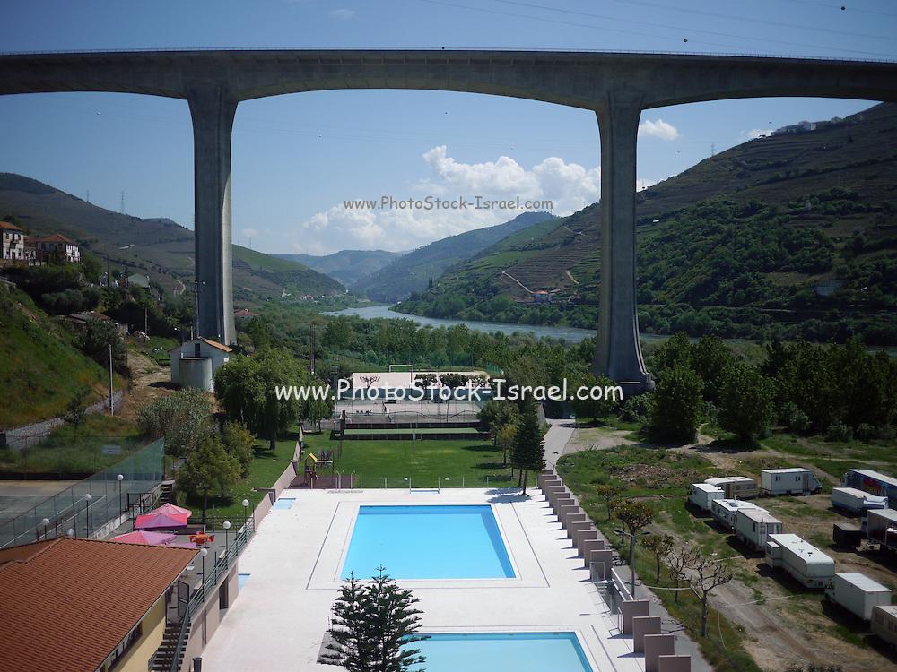 Concrete bridge in Porto, Portugal. Connects Porto and Vila Nova de Gaia over the Douro river.