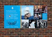 Historic Mayflower trail, ship crew information, Harwich, Essex, England, UK