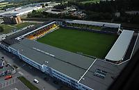 Åråsen stadion på Lillestrøm. Hjemmebanen til Lillestrøm.<br /> Flyfoto / Arena / Aerial Photo Lillestrøm, 29. juli 2008.<br /> Foto: Peter Tubaas/Digitalsport