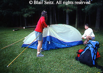 Camping, Outdoor Recreation, Family Sisters Set Tent, Pre-teen Girls Camp, Rickets Glen State Park, PA