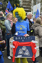 March 23, 2019 - London, London, United Kingdom - Image licensed to i-Images Picture Agency. 23/03/2019. London, United Kingdom. Hundreds of thousands of people march  to Parliament Square in London, calling for a final say in a vote on any Brexit deal. (Credit Image: © Howard Jones/i-Images via ZUMA Press)