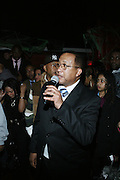 """Dr. Ben Chavis at The Russell Simmons and Spike Lee  co-hosted """"I AM C.H.A.N.G.E!"""" Get out the Vote Party presented by The Source Magazine and The HipHop Summit Action Network held at Home on October 30, 2008 in New York City"""
