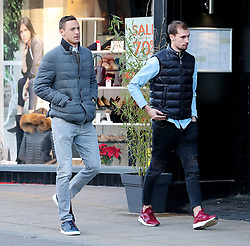 Manchester United'€™s Nemanja Matic is seen out and about in Hale Village, Cheshire
