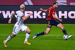 SEVILLE, SPAIN - Tuesday, November 17, 2020: Alvaro Morata of Spain during the UEFA Nations League match between Spain and Germany at Estadio La Cartuja de Sevilla. (Photo by Pablo Morano/Orange Pictures via Propaganda)