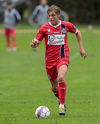 Valdemar Holze (FC Helsingør) under kampen i Sydbank Pokalen, 1. runde, mellem Bispebjerg Boldklub og FC Helsingør den 2. september 2020 i Lersø Parken (Foto: Claus Birch).