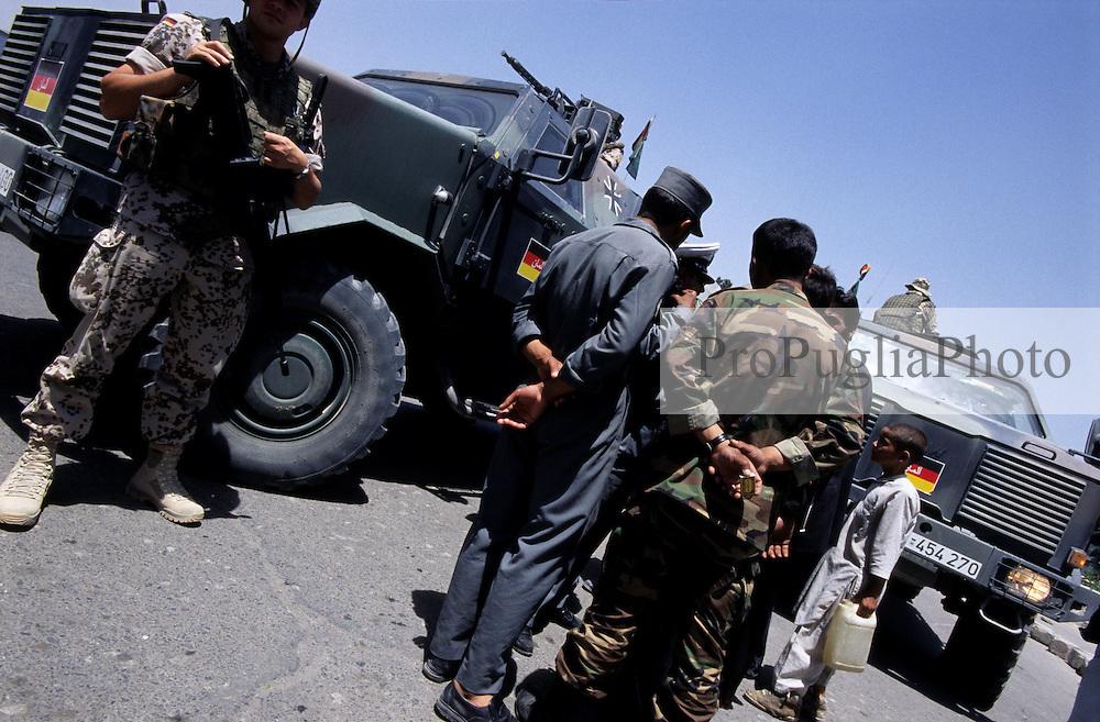 Afghanistan, 21 July 2005..German troops patrolling the streets of Kabul.