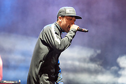 © Licensed to London News Pictures. 27/08/2017. Reading Festival 2017, Reading, UK. Wiley performing on NME/Radio 1 Stage. A popular Rap music artist also known as Richard Cowie pictured. Photo credit: Andy Sturmey/LNP