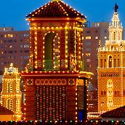 Plaza Lights at Dusk, Kansas City, Missouri in December 2014.
