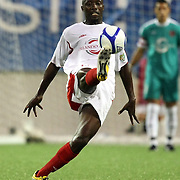 Orlando City Lions Midfielder Lawrence Olum (13) during a United Soccer League Pro soccer match between the Pittsburgh Riverhounds and the Orlando City Lions at the Florida Citrus Bowl on May 14, 2011 in Orlando, Florida. Orlando won the game 1-0. (AP Photo/Alex Menendez)