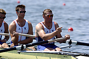 20040814 Olympic Games Athens Greece [Rowing]<br /> Photo  Peter Spurrier <br /> GBR M4- Bow Steve Williams, 2. James Cracknell, 3. Ed Coode and Matt Pinsent<br /> email;  images@intersport-images.com<br /> Tel +44 7973 819 551<br /> T<br /> <br /> <br /> [Mandatory Credit Peter Spurrier/ Intersport Images]