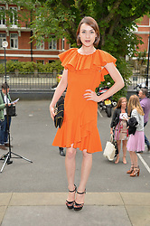 ELLA CATLIFF at an exclusive showing of the Ralph Lauren Collection Spring 2014 Runway Collection held at the legendary Abbey Road Studios, Abbey Road, London NW8 on 21st May 2014.