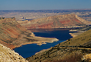 Flaming  Gorge National Recreation Area fed by the Green River, Flaming  Gorge Reservoir, Wyoming