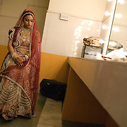 The last photo as a single woman, taken moments before the groom arrives and the wedding ceremony begins. Gwalior, December 3, 2007 A Rajput wedding in India