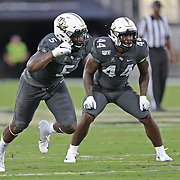 ORLANDO, FL - AUGUST 29: Randy Charlton #5 and Nate Evans #44 of the UCF Knights are seen during a NCAA football game between the Florida A&M Rattlers and the UCF Knights on August 29 2019 in Orlando, Florida. (Photo by Alex Menendez/Getty Images) *** Local Caption *** Randy Charlton; Nate Evans