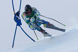 21.01.2011, Hahnenkamm, Kitzbuehel, AUT, FIS World Cup Ski Alpin, Men, Super G, im Bild Ales Gorza (SLO) takes to the air competing in the 2011 Hahnenkamm Super Giant Slalom race (Super G)part of  Audi FIS World Cup races in Kitzbuhel Austria. EXPA Pictures © 2011, PhotoCredit: EXPA/ M. Gunn