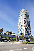 Modern highrise tower Barcelona, Spain