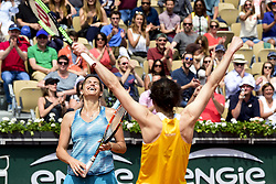 June 9, 2018 - Paris, France, France - joie de Amelie Mauresmo (Fra) / Nathalie Dechy (Fra) - Finale Trophee des Legendes Femmes (Credit Image: © Panoramic via ZUMA Press)