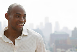 African American man smiling in New York