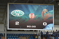 Fotball<br /> 20.08.2015<br /> UEFA Europa League<br /> Foto: PhotoNews/Digitalsport<br /> NORWAY ONLY<br /> <br /> Scoreboard pictured during the UEFA Europa League play-offs first leg match between Molde FK and Standard Liege in Molde, Norway.