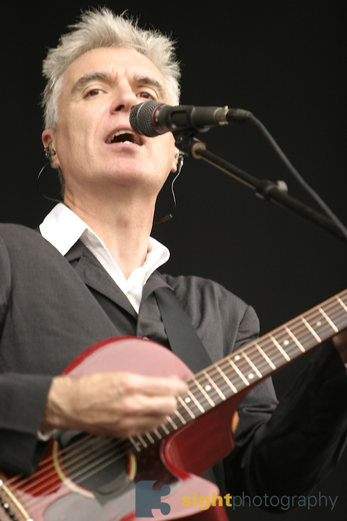 Jun 11, 2004; Manchester, TN, USA; David Byrne performing at Bonnaroo 2004. Mandatory Credit: (©) Copyright 2004 by Bryan Rinnert