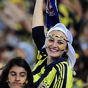 Fenerbahce's supporter during their Turkish superleague soccer match Fenerbahce between Mersin idman Yurdu at the Sukru Saracaoglu stadium in Istanbul Turkey on Sunday 16 September 2012. Photo by TURKPIX