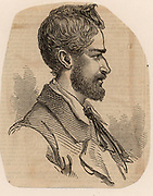 Frederich Wilhelm Ludwig Leichhardt (1813-1848?) Prussian (German) explorer and naturalist. In 1848 he began a journey across Australia from east to west starting from Moreton Bay. He disappeared and no traces of him have ever been found.  'The Illustrated London News' (London, 1846).