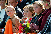 Koningsdag in Dordrecht / Kingsday in Dordrecht<br /> <br /> Op de foto / On the photo: <br /> <br />  Prinses Amalia , Prinses Alexia en Prinses Ariane