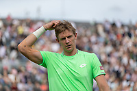 Tennis - 2019 Queen's Club Fever-Tree Championships - Day One, Monday<br /> <br /> Men's Singles, First Round: Cameron Norrie (GBR) Vs. Kevin Anderson (RSA)  <br /> <br /> A tired looking Kevin Anderson (RSA) after beating Cameron Norrie (GBR) in a game lasting 2 hours 20 minutes on Centre Court.<br />  <br /> COLORSPORT/DANIEL BEARHAM