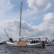 NLD/Loosdrecht/20120623 - Koningin Beatrix bezoekt vlootschouw nij het 100 jarig bestaan van watersportvereniging WNL  , de Groene Draeck