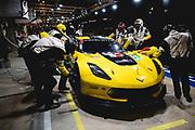 June 12-17, 2018: 24 hours of Le Mans. 64 Corvette Racing, Corvette C7.R, Oliver Gavin, Tommy Milner, Marcel Fassler , pitstop