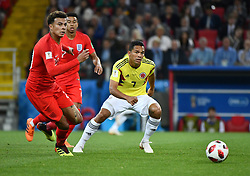 England's Dele Alli and Colombia's Carlos Bacca during the 1/8 final game between Colombia and England at the 2018 FIFA World Cup in Moscow, Russia on July 3, 2018. Photo by Lionel Hahn/ABACAPRESS.COM