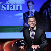 Nederland, Amsterdam , 10 maart 2015.<br /> Première van 'How to be a Frisian' van Amerikaanse komediant Greg Shapiro, in Boom Chicago.<br /> Foto:Jean-Pierre Jans